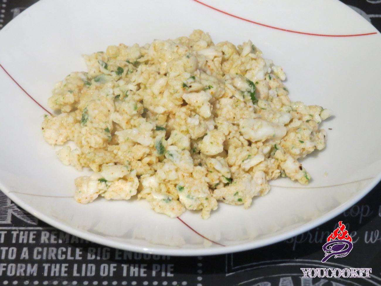 Uova strapazzate senza colesterolo