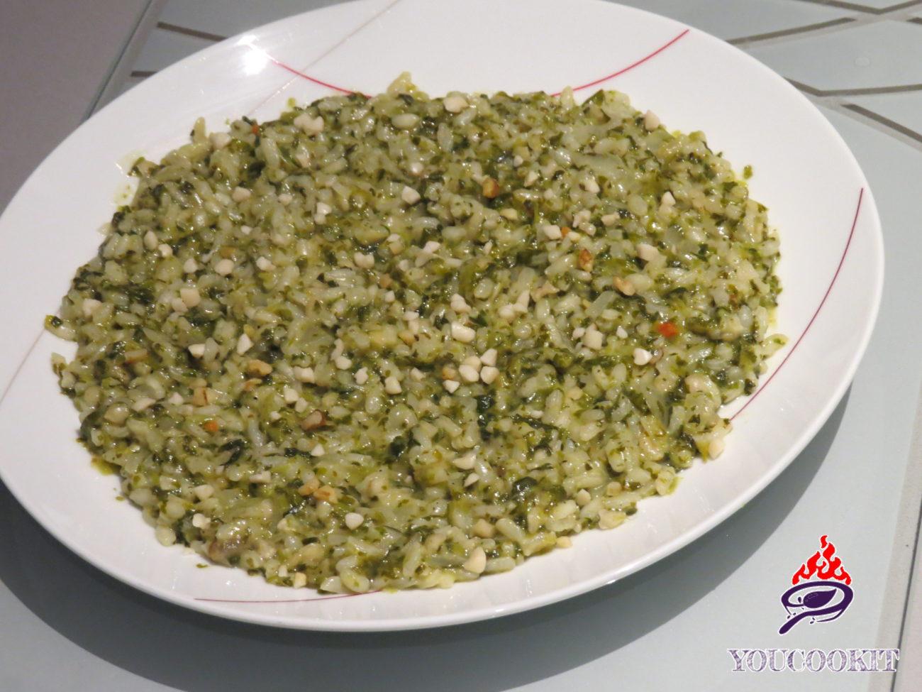 Risotto agli spinaci e noci