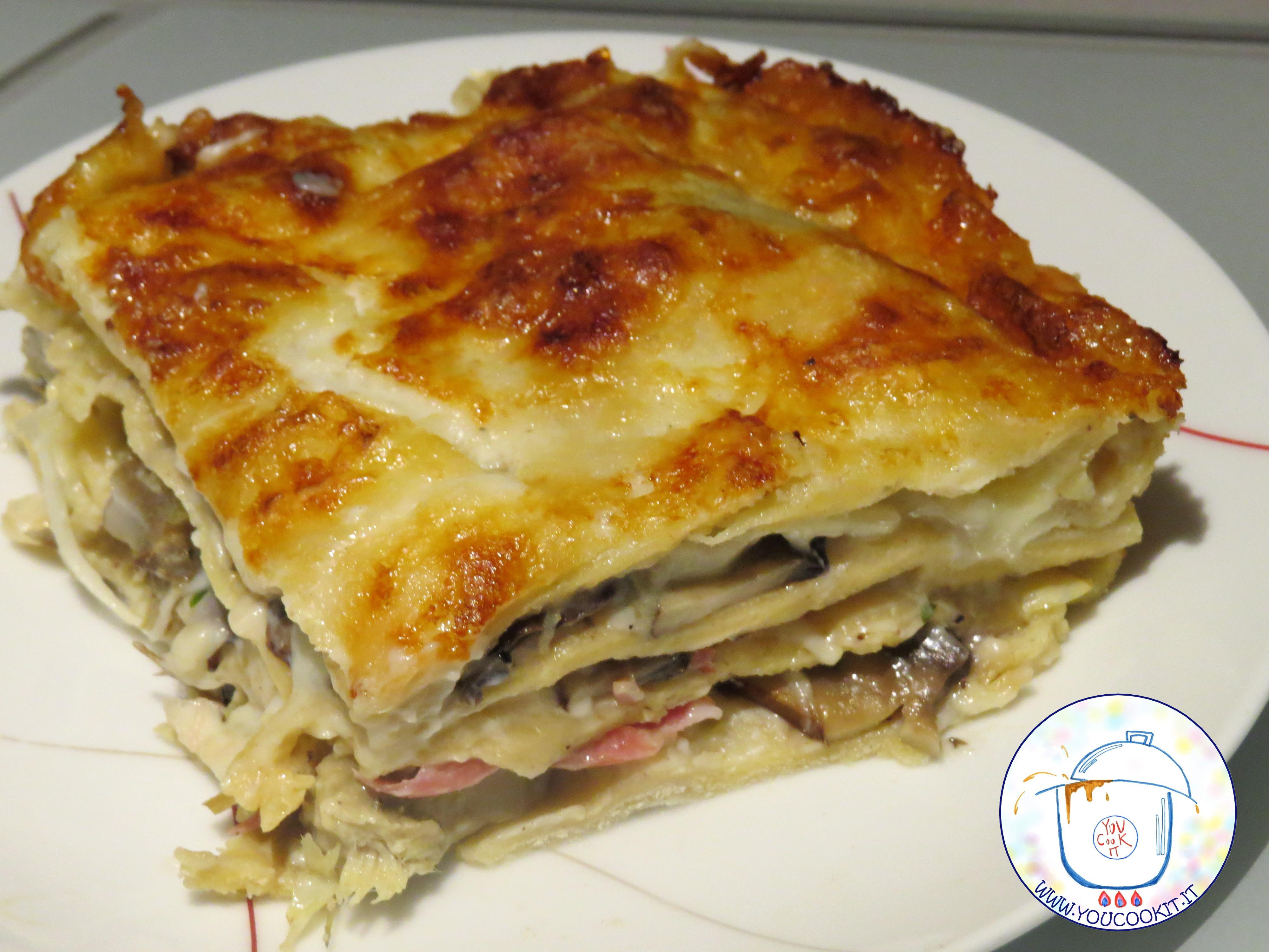 Ricetta Lasagne Ai Funghi.Lasagne Ai Carciofi E Funghi Youcookit